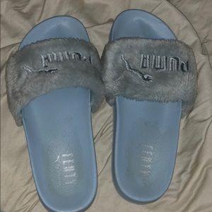 Shoes - Baby blue FENTY slides